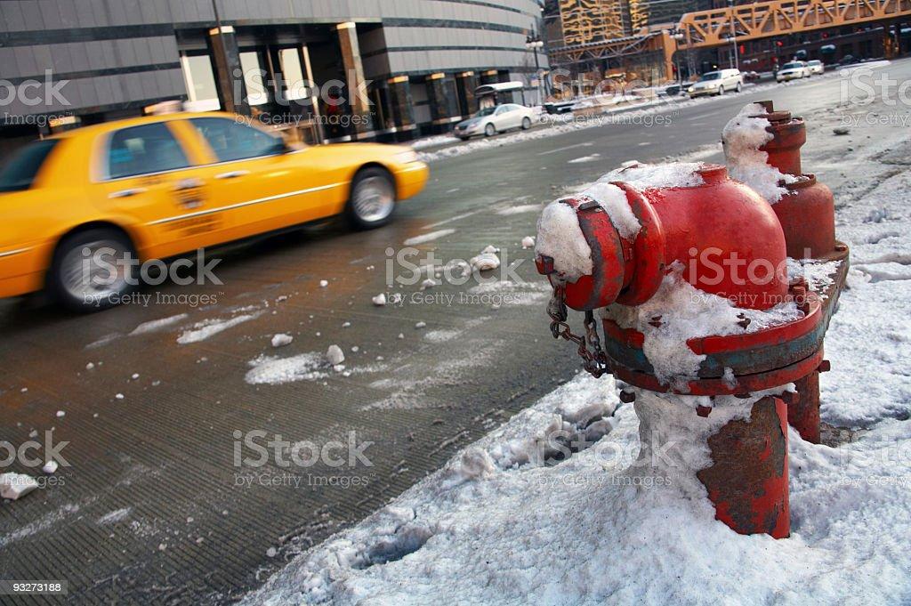 Chicago Blizzard royalty-free stock photo