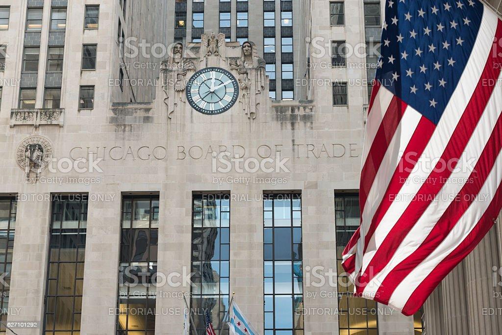Chicago Board of Trade stock photo