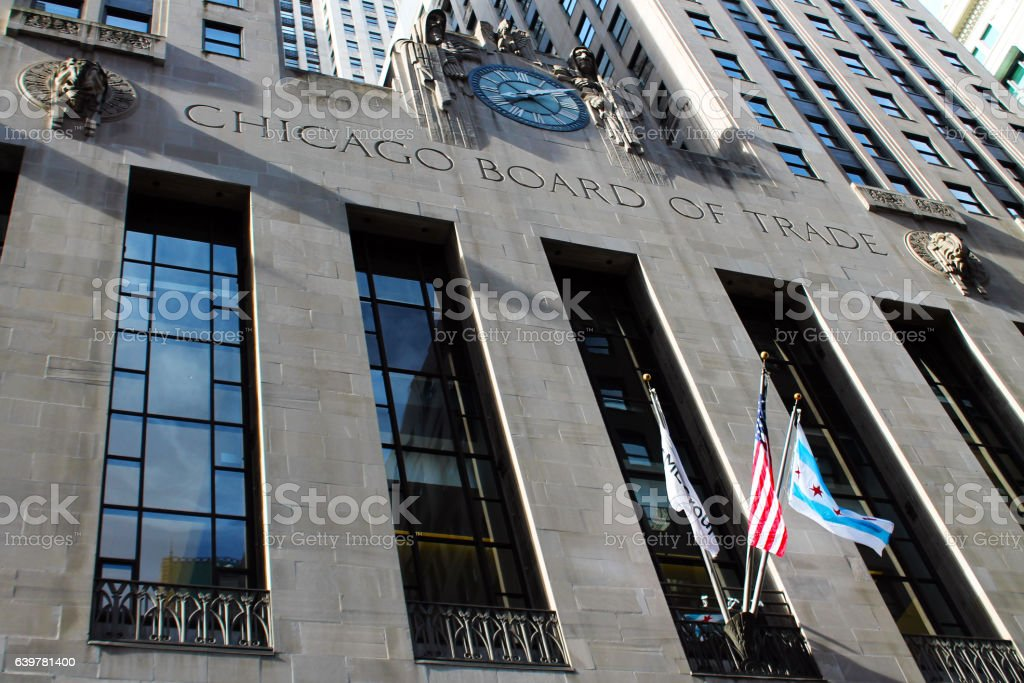 Chicago board of trade stock photo