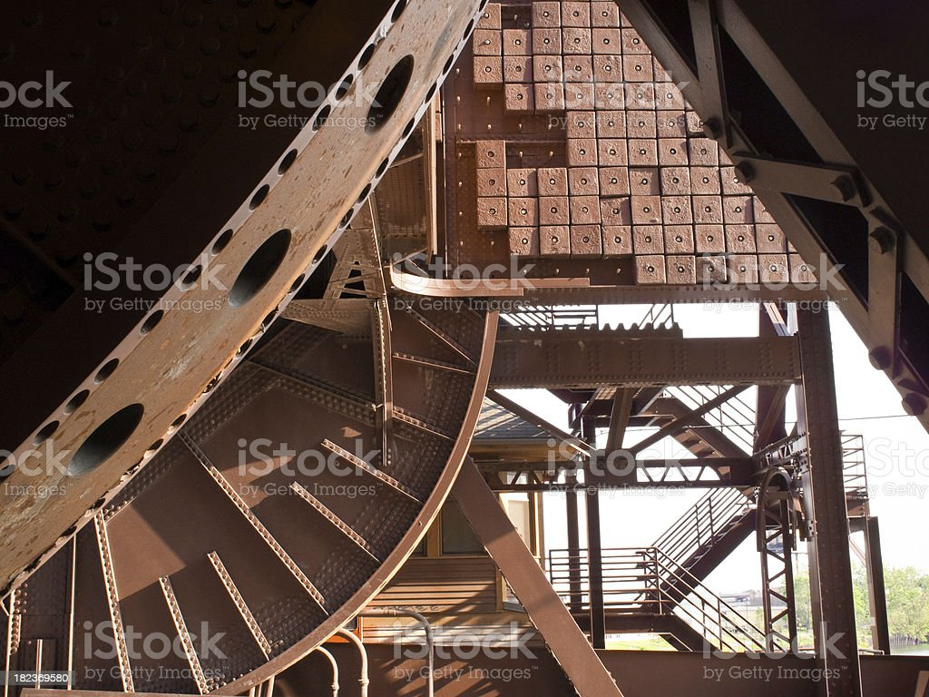 Chicago Bridge Gears royalty-free stock photo