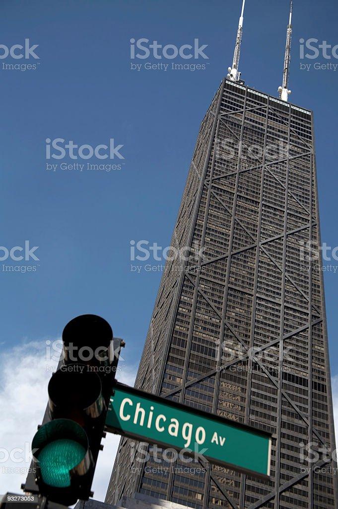 Chicago Buildings - John Hancock stock photo