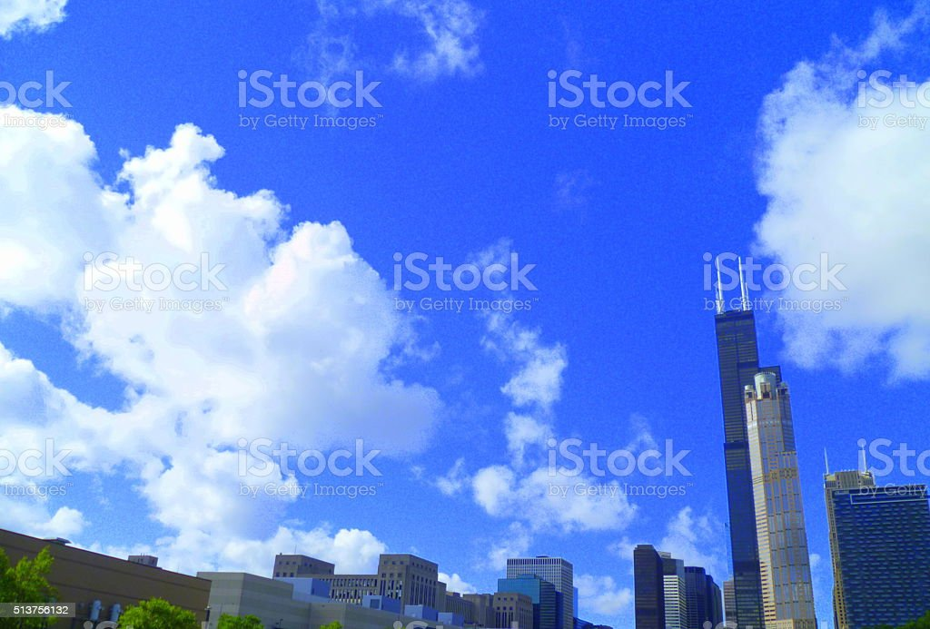 Chicago buildings stock photo