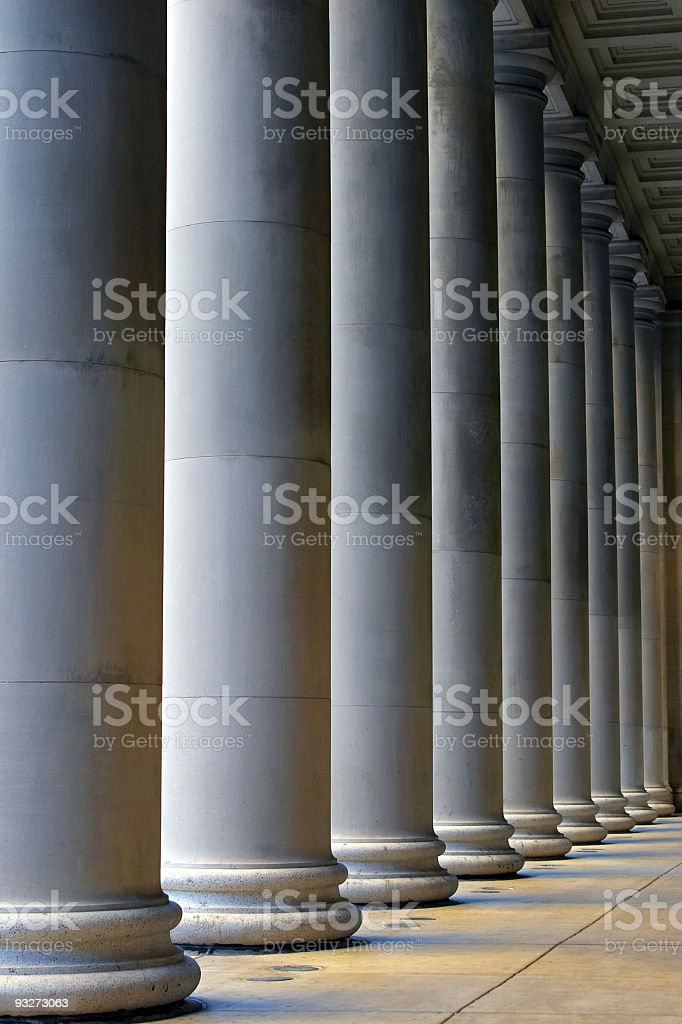 Chicago Buildings - Union Station Columns royalty-free stock photo