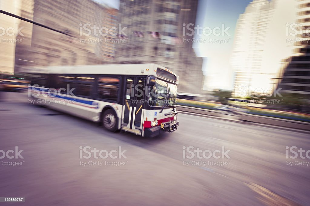 Chicago Bus stock photo