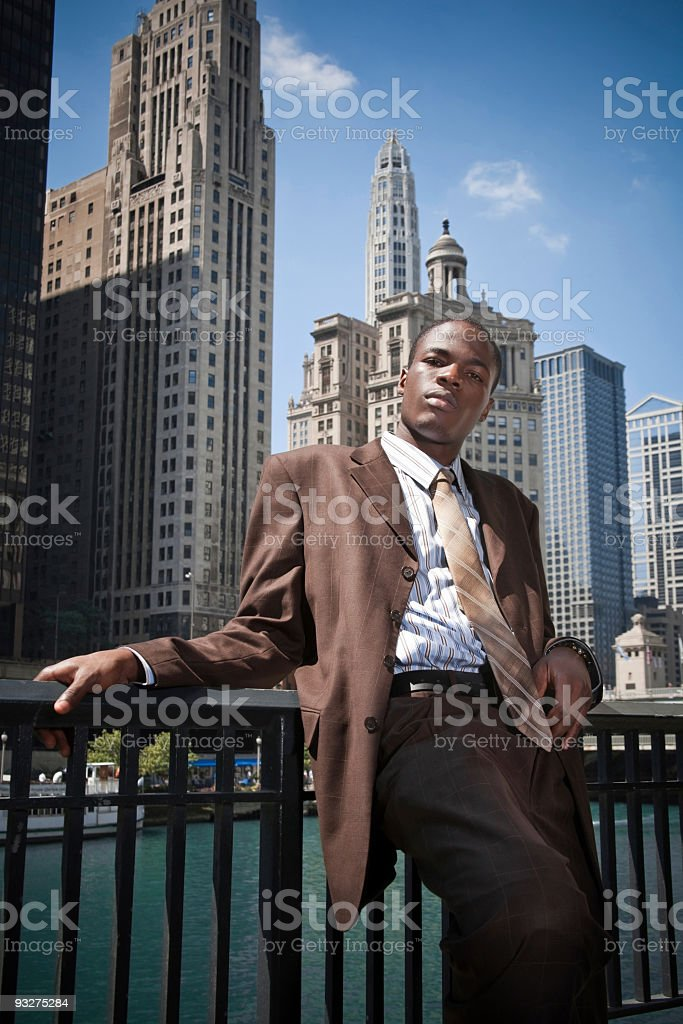 Chicago Businessman royalty-free stock photo
