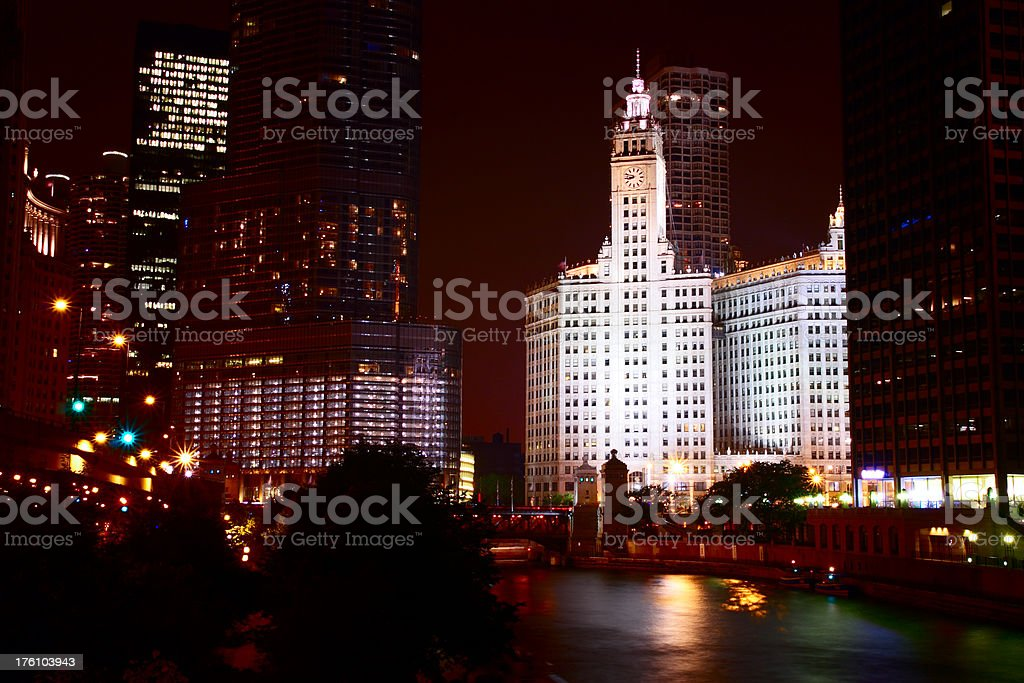 Chicago by Night royalty-free stock photo
