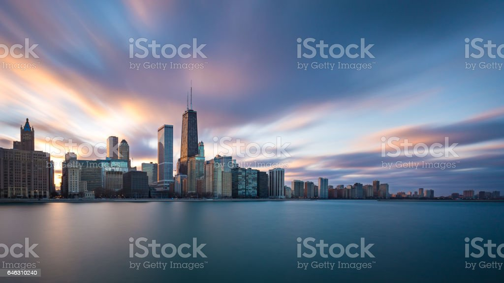 Chicago by the Lake stock photo