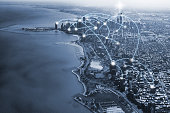 chicago city and connection concept