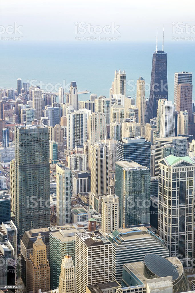 Chicago City downtown royalty-free stock photo