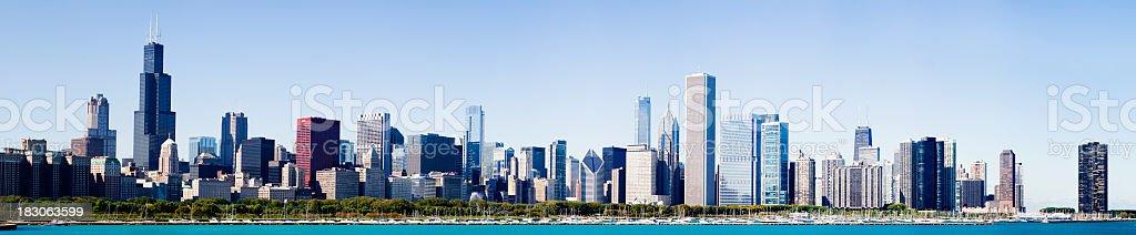 Chicago City Grant Park Skyline USA stock photo