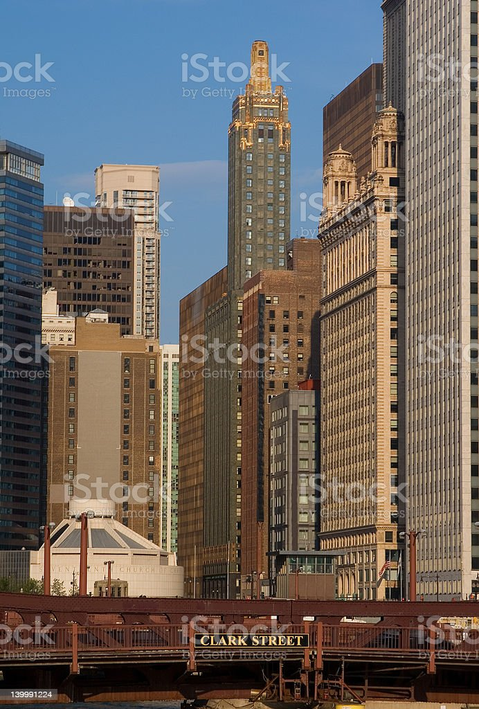 Chicago city view royalty-free stock photo