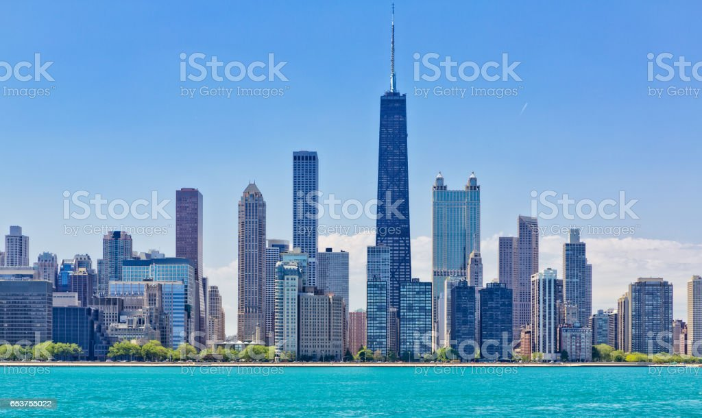 Chicago cityscape stock photo