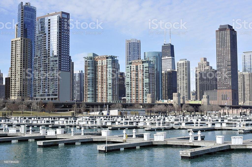 Chicago Cityview Apartment Buildings stock photo