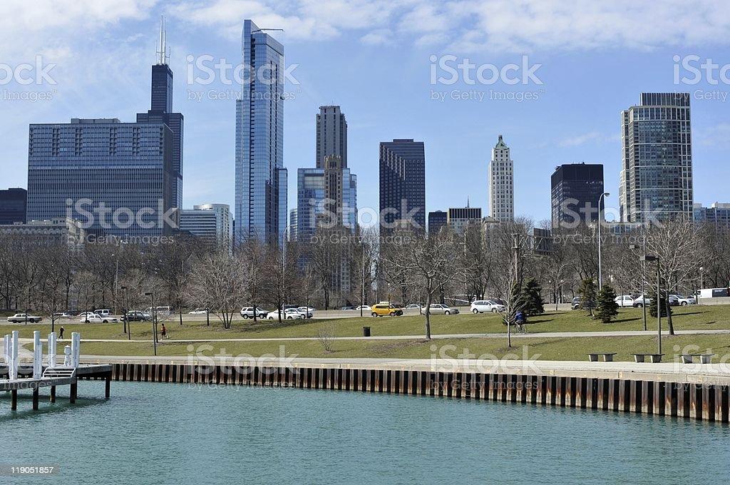 Chicago Cityview Lakefront stock photo