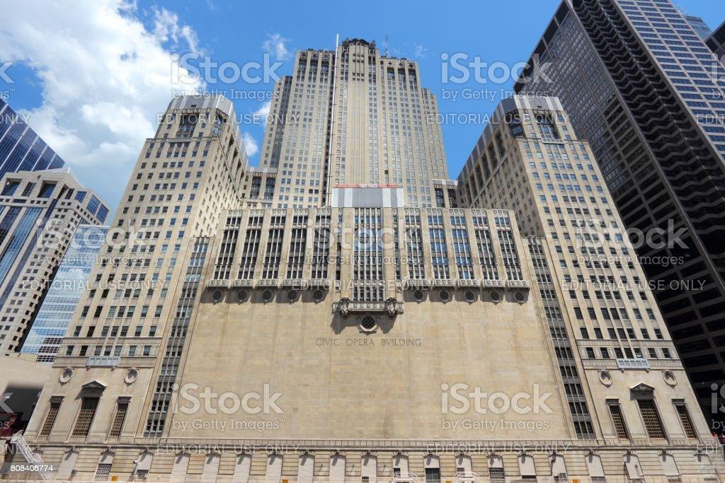 Chicago Civic Opera stock photo