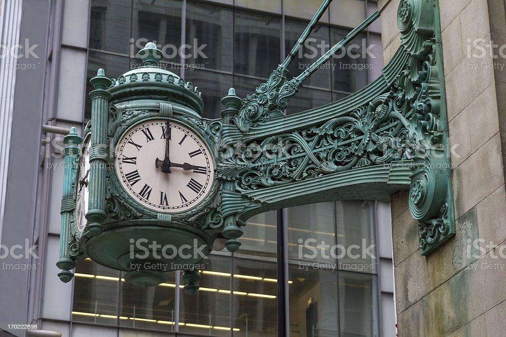 Chicago Clock stock photo