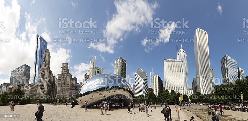 Chicago Cloud Gate royalty-free stock photo