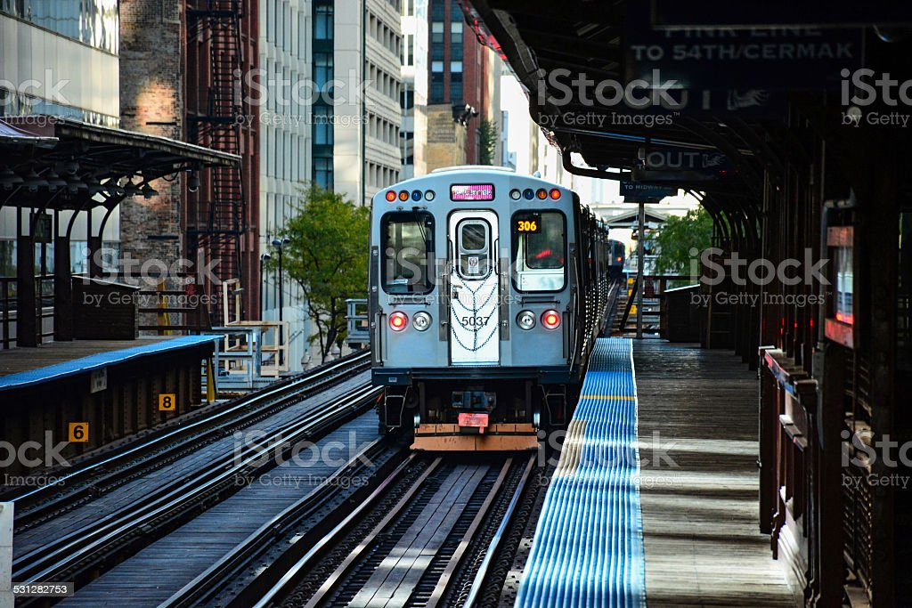 Chicago CTA Train stock photo