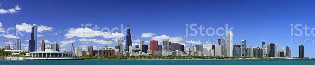Chicago Daytime Skyline Panorama stock photo