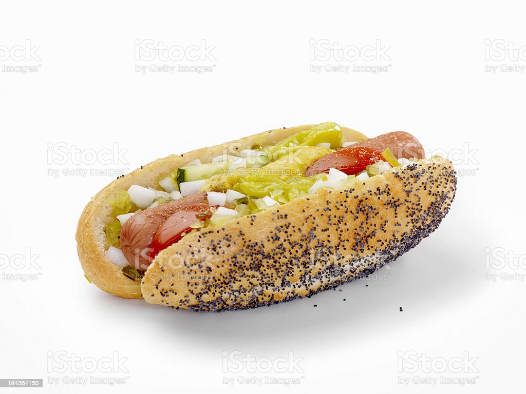 Chicago Dog royalty-free stock photo