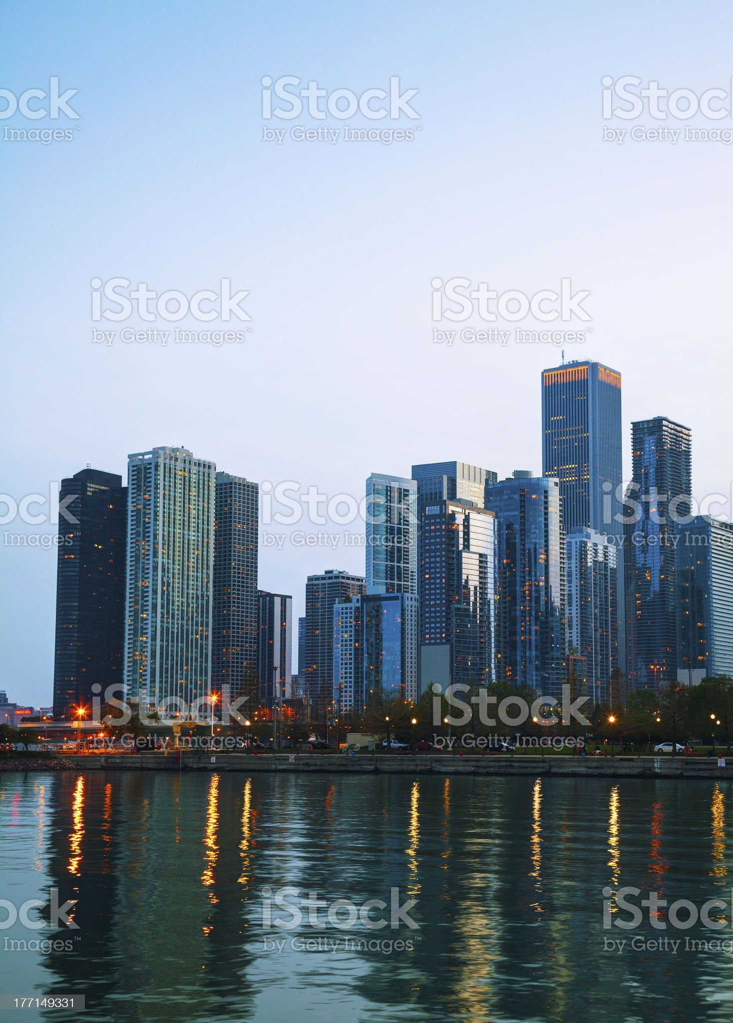 Chicago downtown cityscape royalty-free stock photo