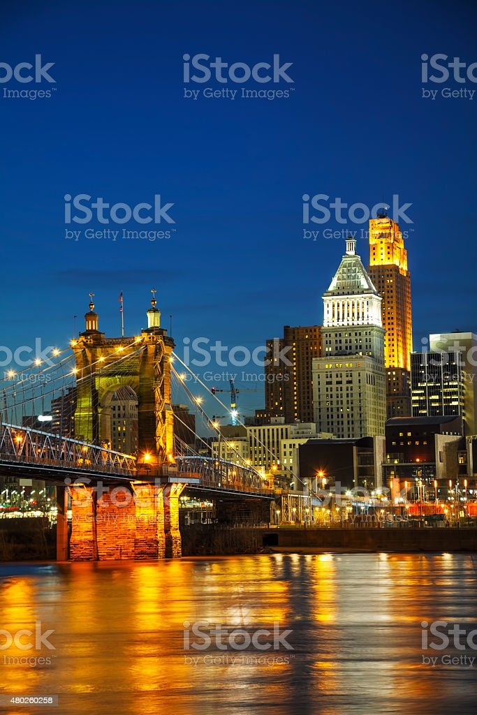 Chicago downtown cityscape stock photo