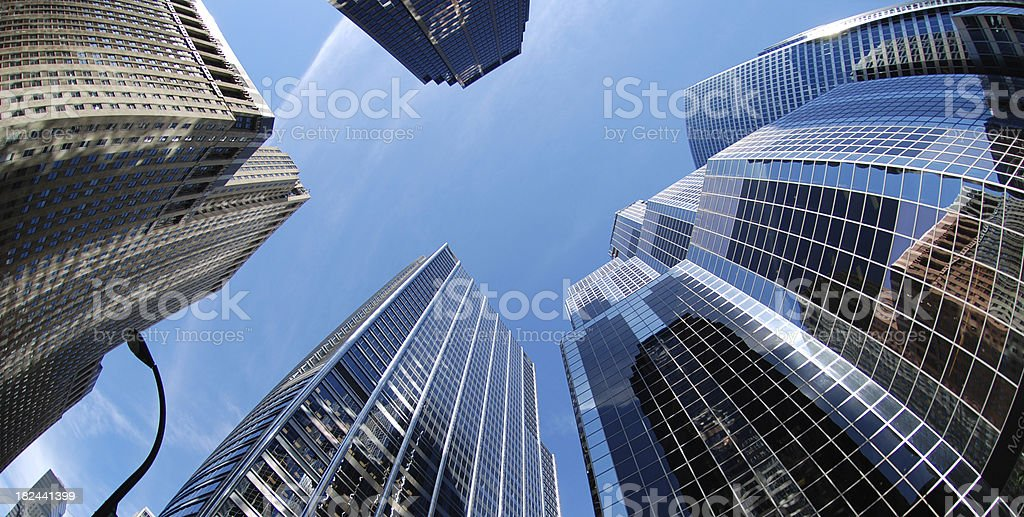 Chicago downtown high buildings stock photo