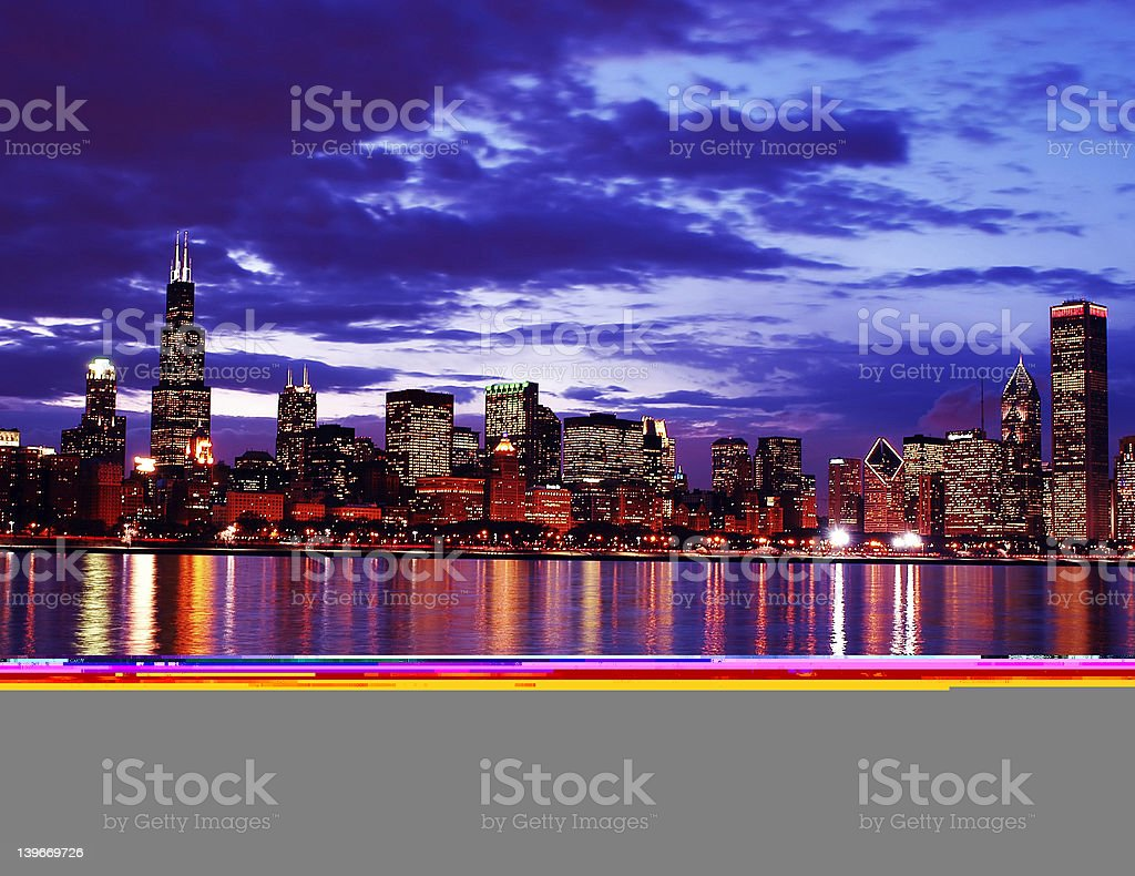 Chicago Downtown High Color stock photo
