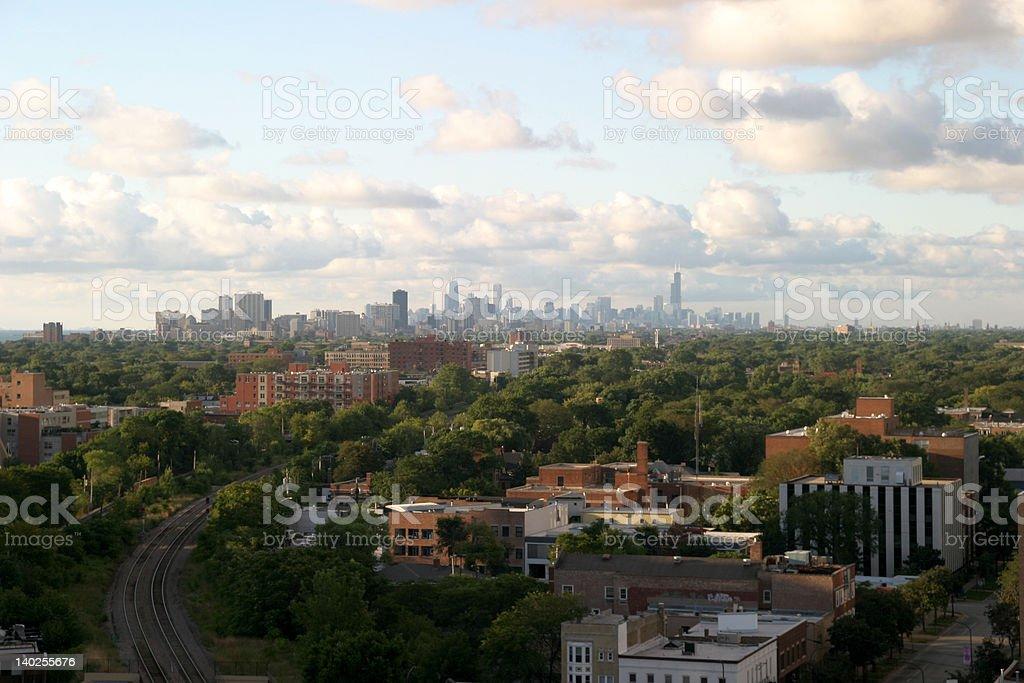 Chicago Downtown on the Horizon stock photo