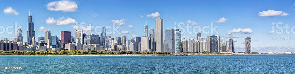 Chicago downtown panorama stock photo