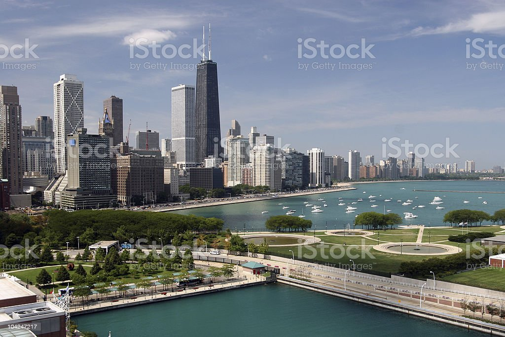 Chicago downtown stock photo