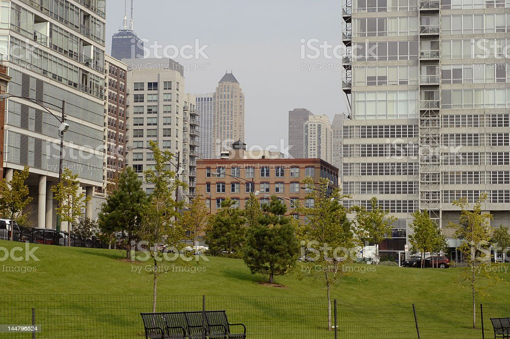 Chicago downtown royalty-free stock photo