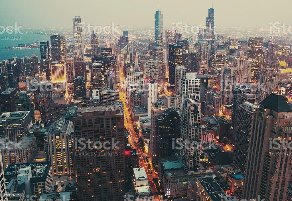 Chicago financial distict. stock photo