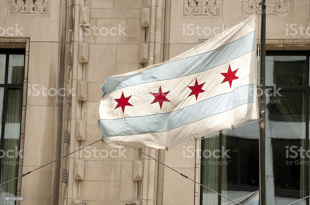 Chicago Flag stock photo