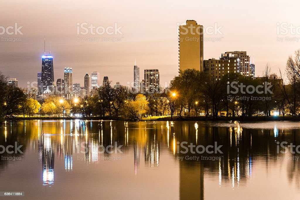 Chicago from Lincoln Park stock photo