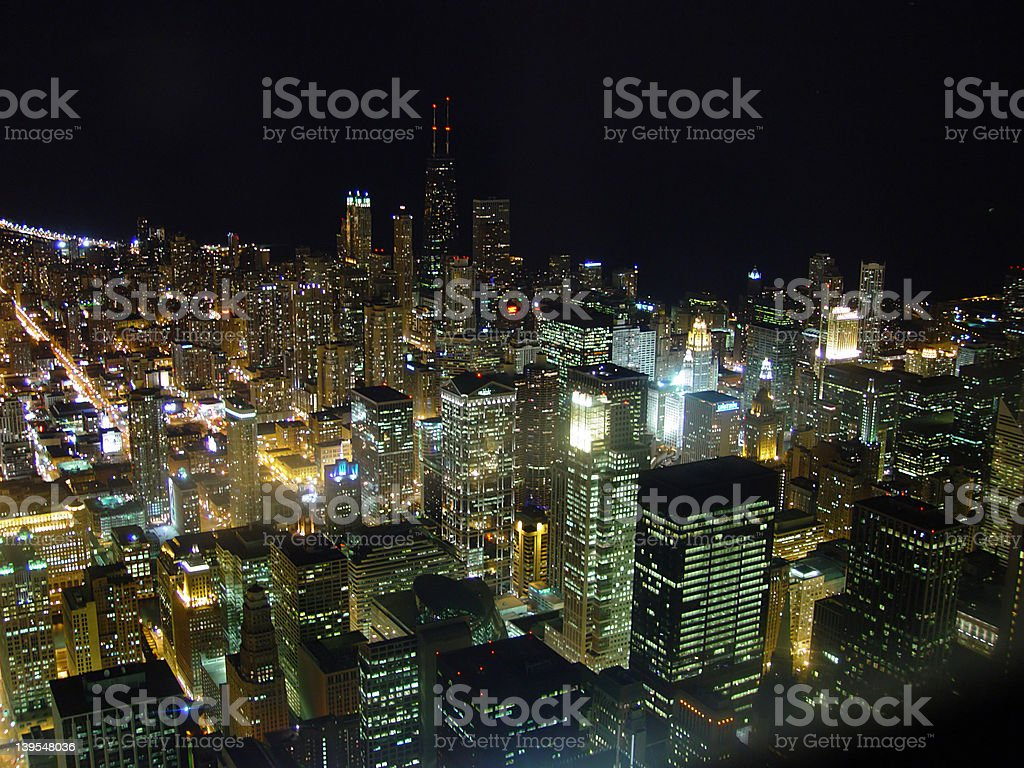 Chicago from Sears Tower royalty-free stock photo