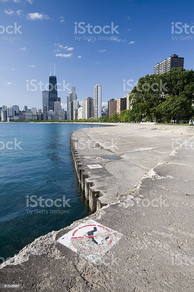 Chicago from the Lakefront royalty-free stock photo