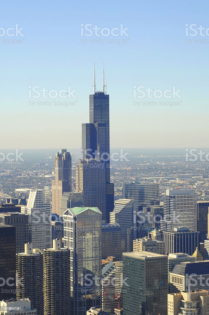 Chicago from the top royalty-free stock photo