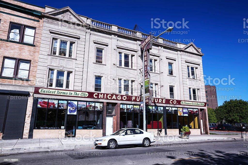 Chicago Furniture Company in Grand Boulevard stock photo