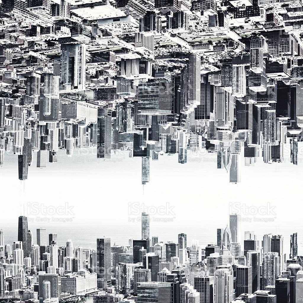 Chicago futuristic city stock photo