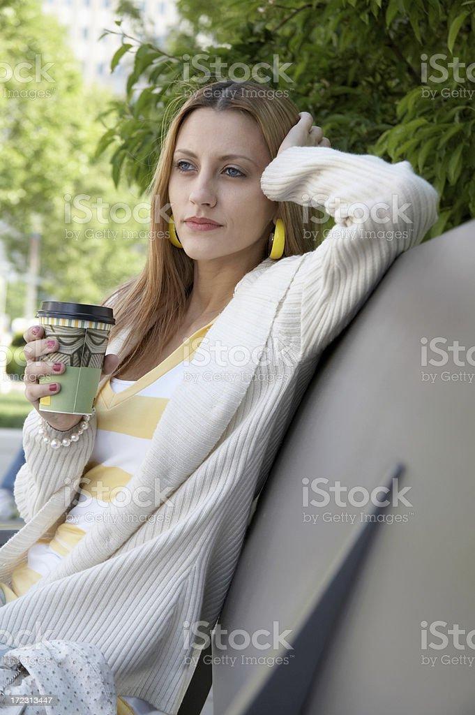 Chicago Girl - Coffee Break royalty-free stock photo
