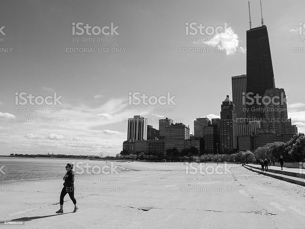 Chicago Gold Coast Beach stock photo