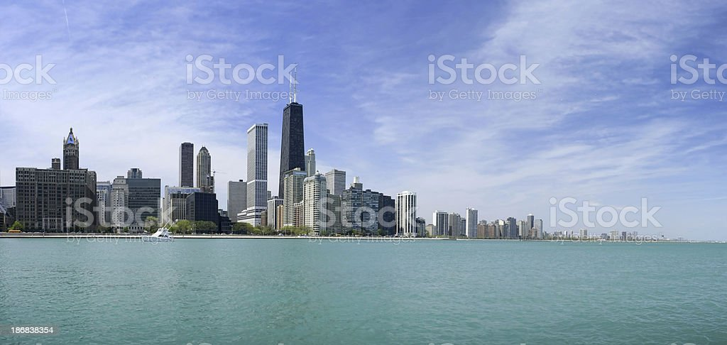 Chicago Gold Coast Panorama royalty-free stock photo