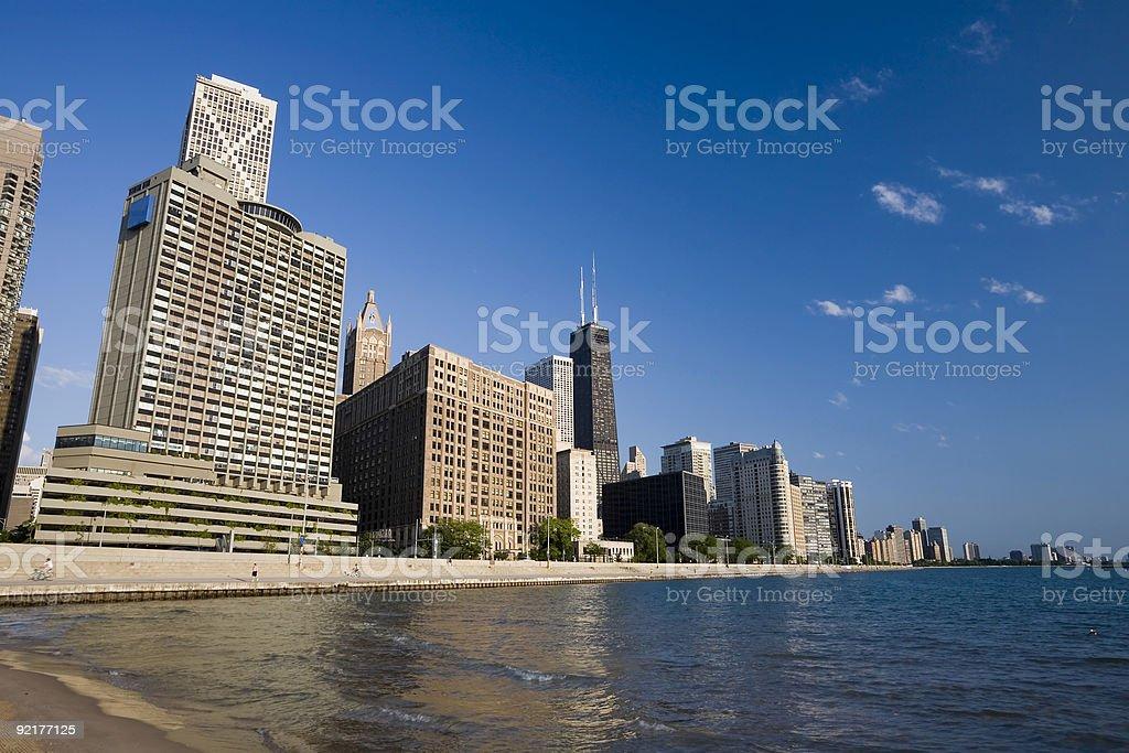 Chicago Gold Coast Skyline royalty-free stock photo