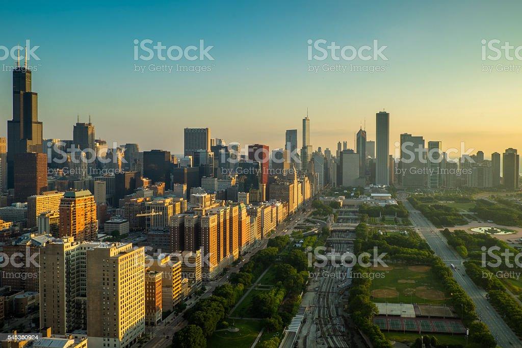 Chicago Golden Morning stock photo