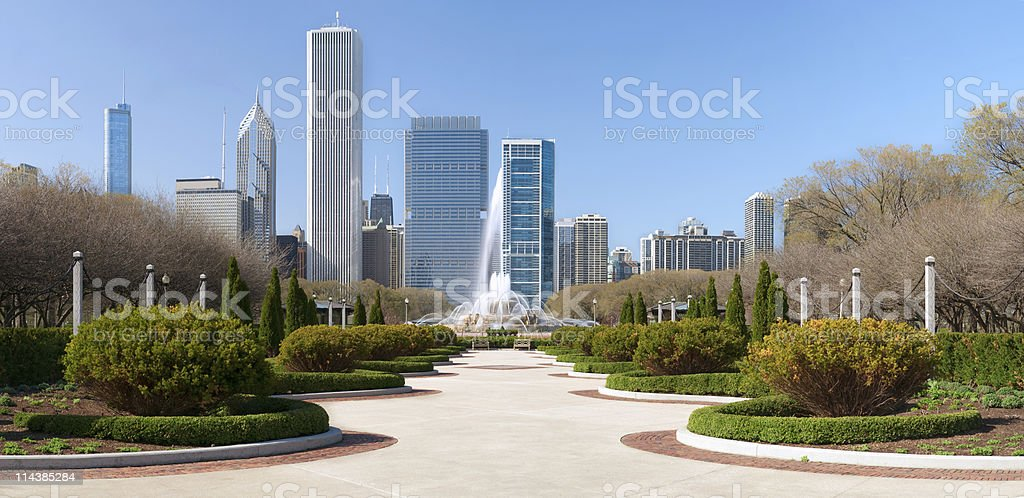 Chicago Grant Park royalty-free stock photo