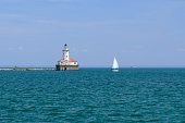 Chicago Harbor Lighthouse, built in 1893