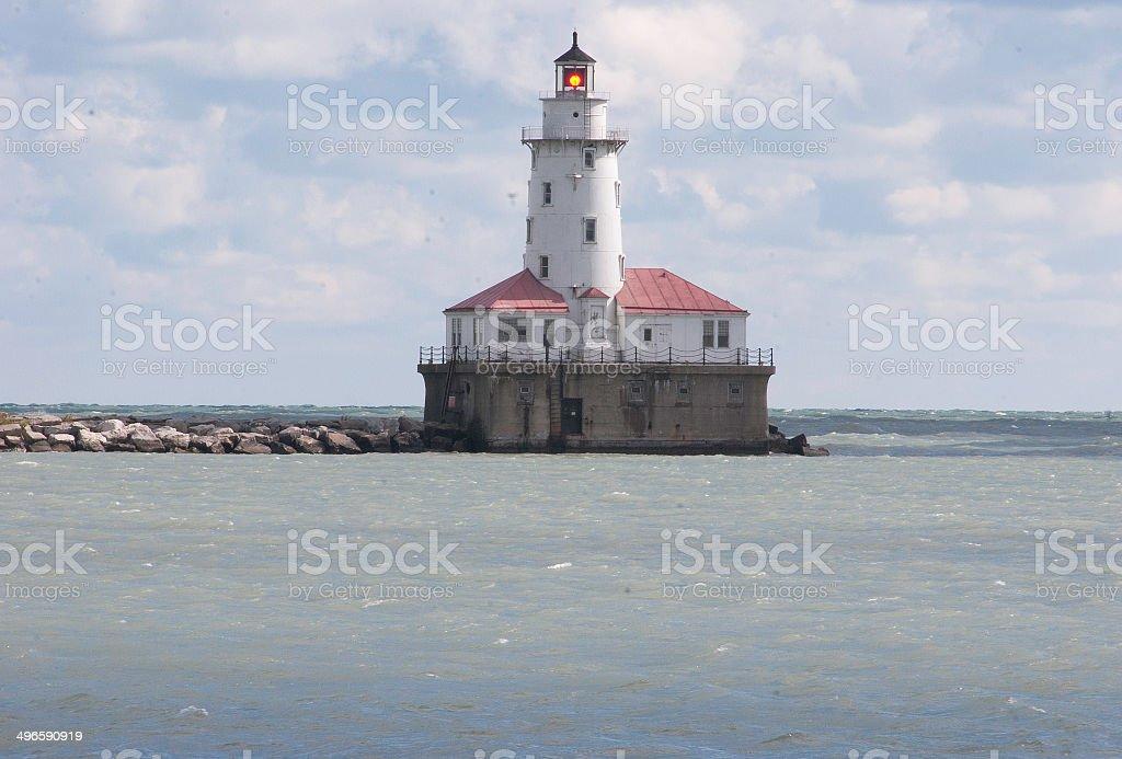 Chicago Harbor Lighthouse stock photo