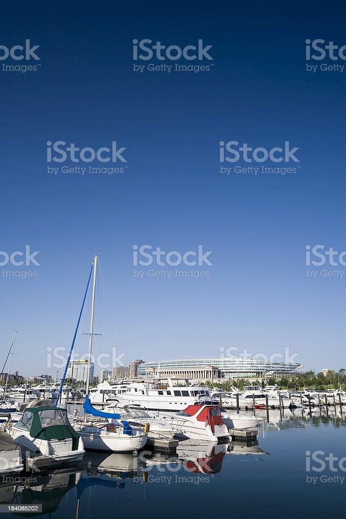 Chicago Harbor royalty-free stock photo