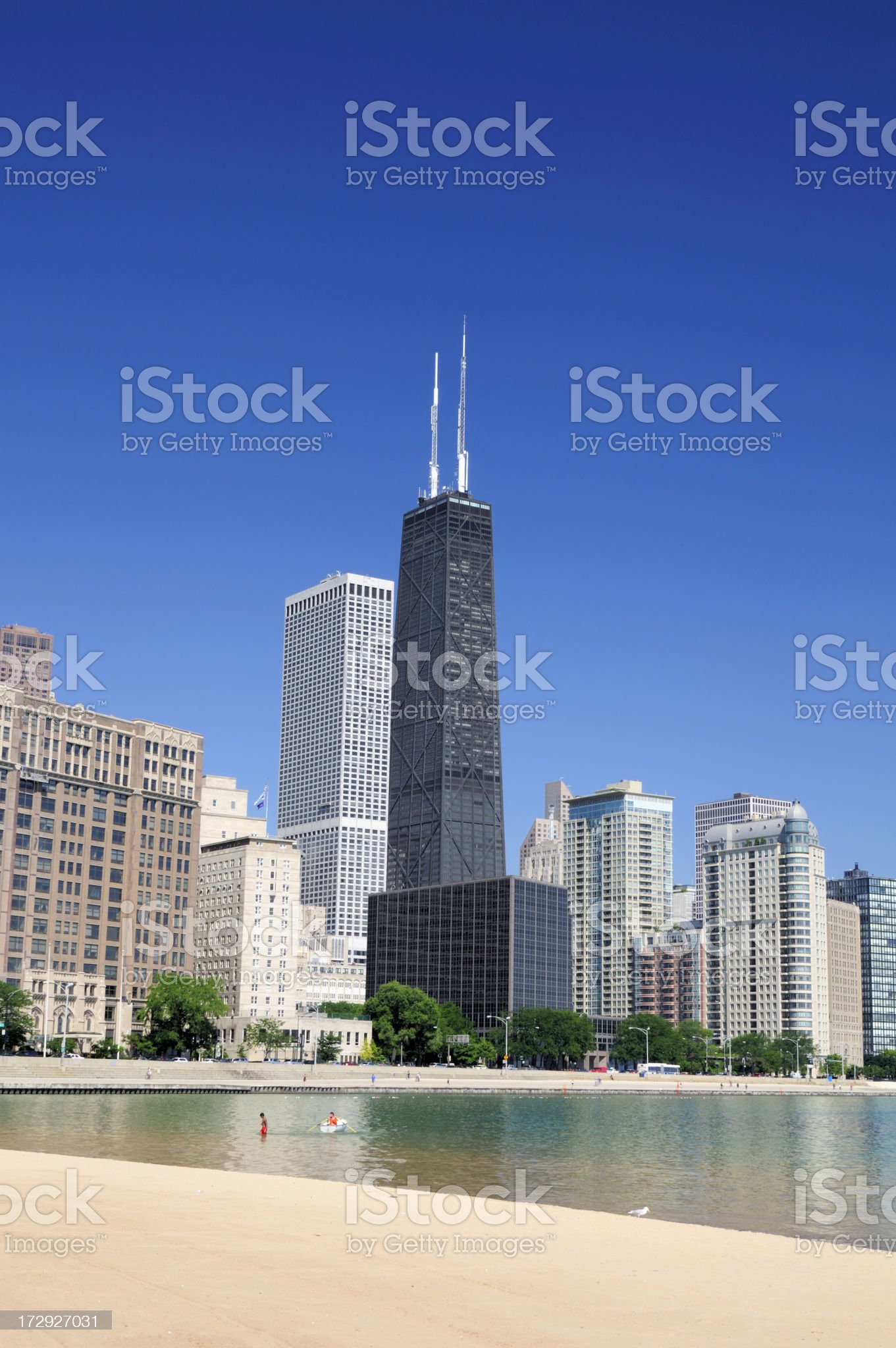 Chicago High-Rises royalty-free stock photo